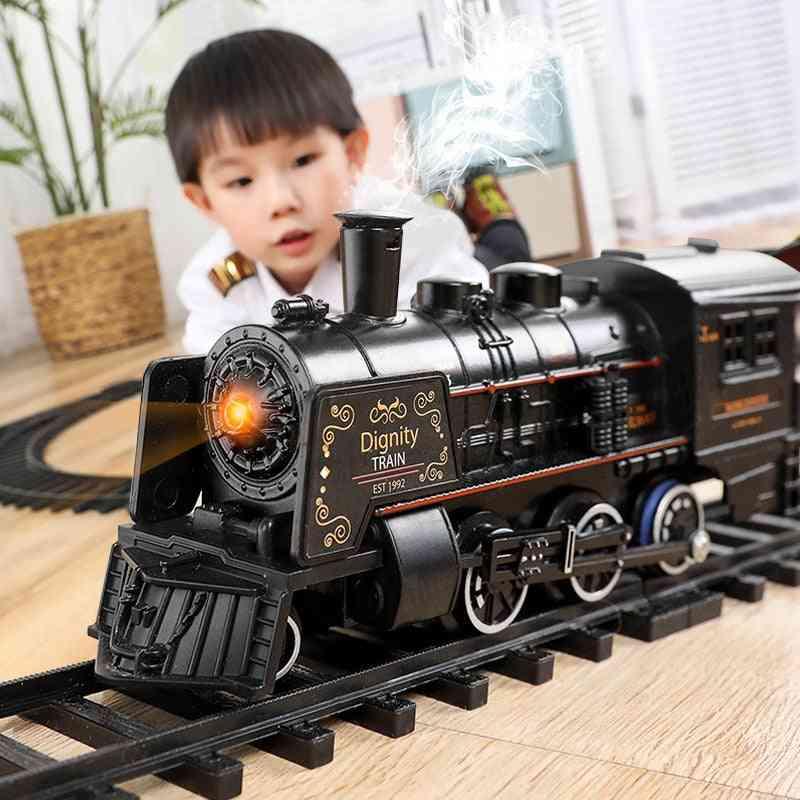 Electric Train Toy Rails Remote Control Model Railway Set