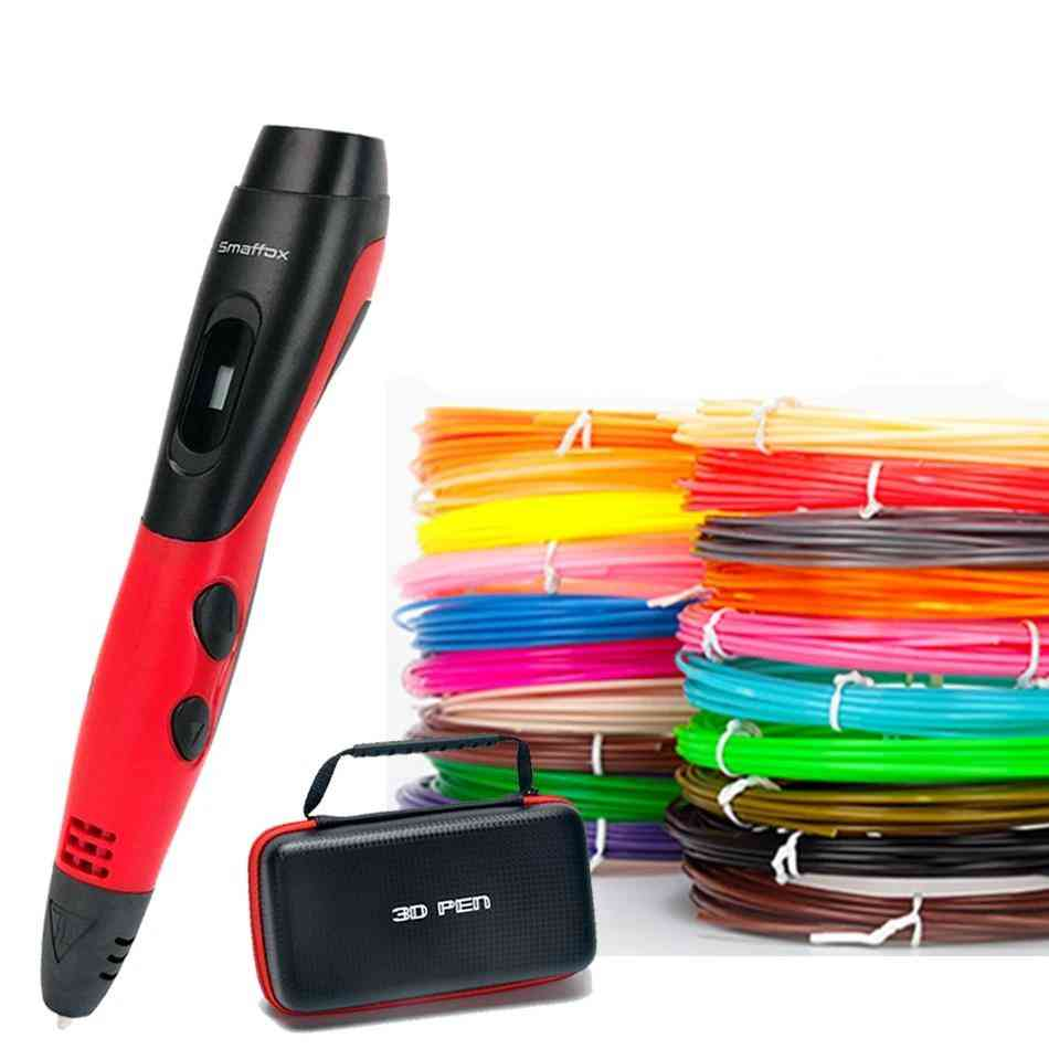 3d-pen With 18-colors, Filament Printing & Drawing Pen With Lcd Display