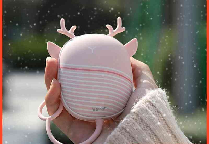 Electric Usb Rechargeable Hand Warmer, Heating Pad With Lamp