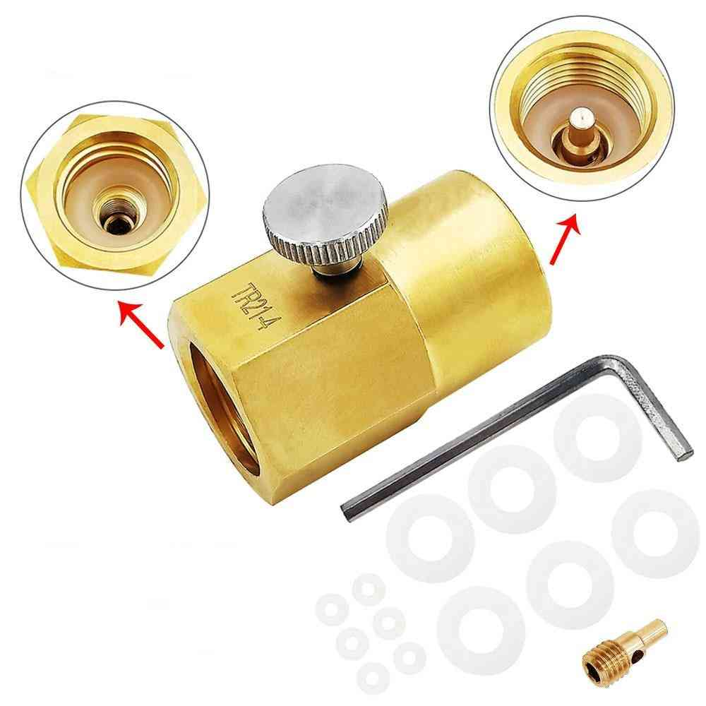 Sodastream Co2 Carbonator Cylinder Canister Refill Adapter Filling Charging Adaptor With Pin & Connector
