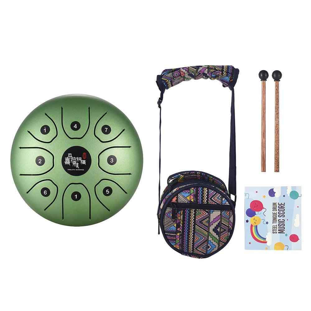 Mini 8-tone Steel Tongue Drum C Key Handpan Drum With Drum Mallets Bag