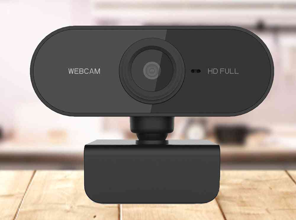 Mini Usb 2.0 Webcam Full Hd 1080p Auto Focus With Microphone For Video Calling Live (1080p)