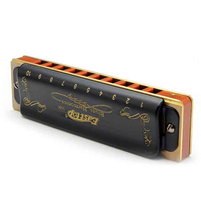 10 Hole Diatonic Blues Harmonica Harmonica Mouth Organ Woodwind Musical Instrument
