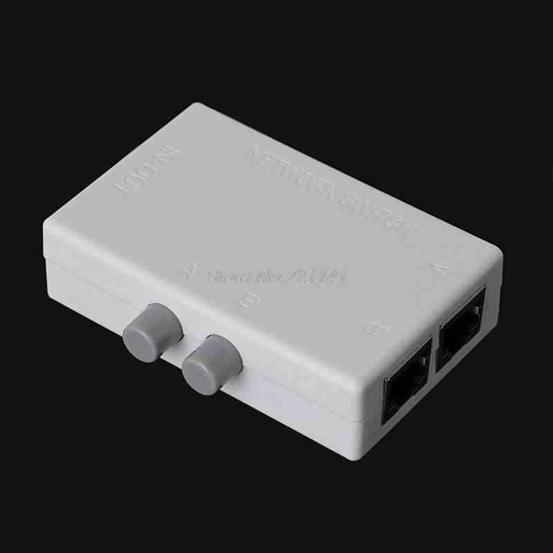 Mini 2 Port Ab Network Manual Sharing Switch Box
