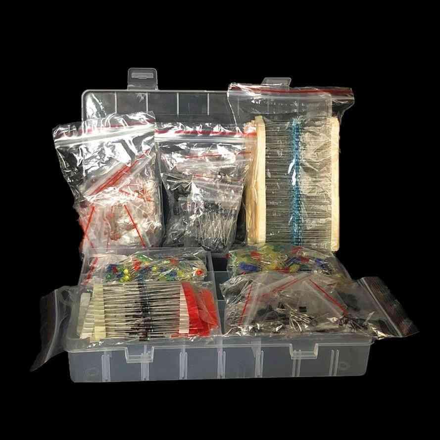 Metal Film Resistor Assortment Kit Led Diodes Electrolytic Capacitor Ceramic Set