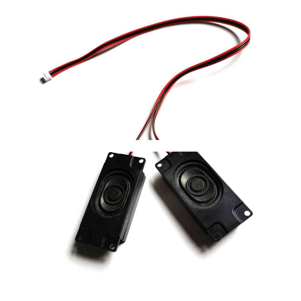 A Pair Of Universal 8 Ohm 5 Watt Small Horn Speaker Amplifiers And 4 Pin Connector Cable