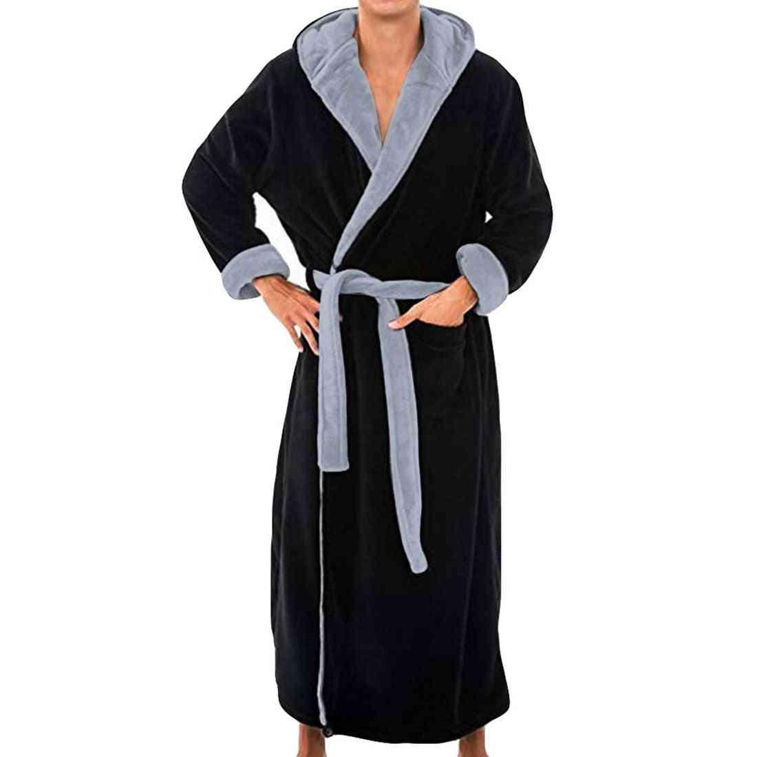 Autumn/ Winter- Thick Casual Hooded, Long Kimono Robe