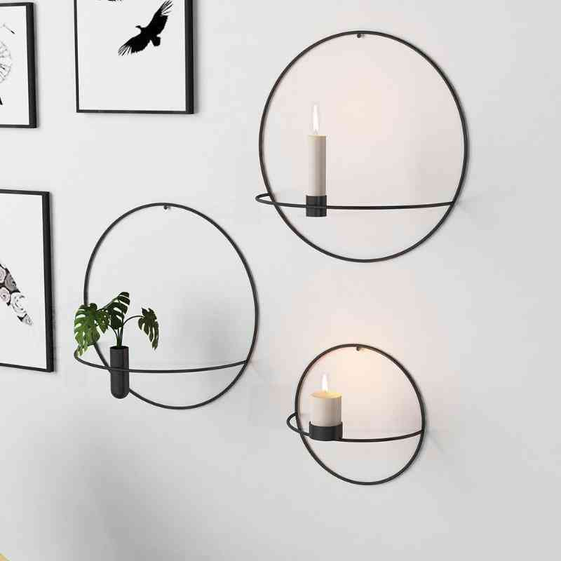 Wall Mounted, Candle Hanging Holder, Geometric Tea Light, Home Candlestick