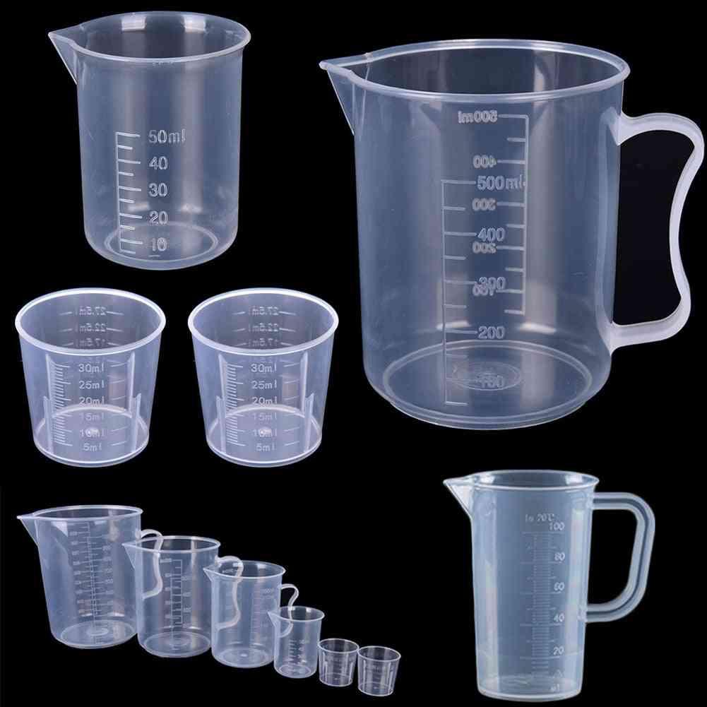 Plastic Graduated Measuring Cup For Baking Beaker Liquid Measure Jug Cup Container