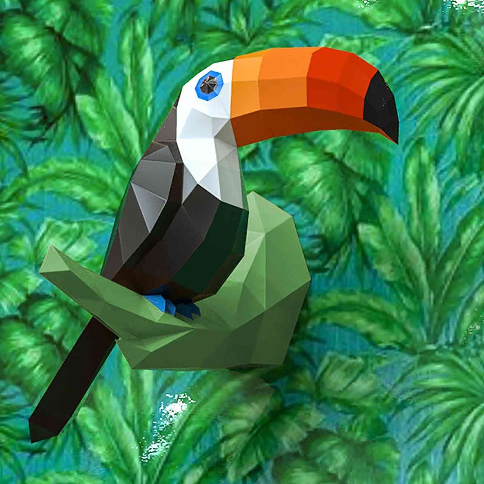3d Model- Papercraft Creative Animals, Home Wall Decoration, Puzzles
