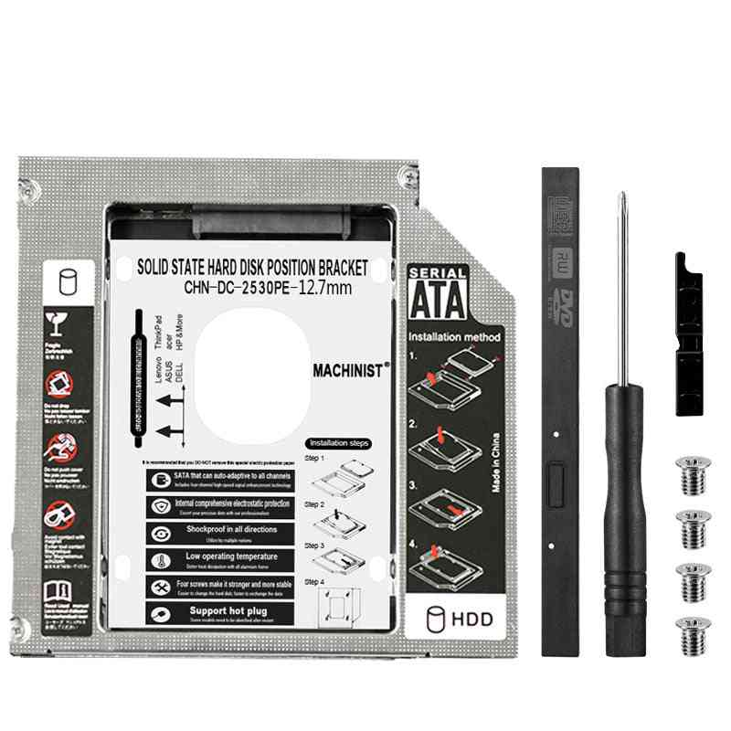 Hdd Caddy Ssd/cd/dvd Case For Laptop Dvd-rom Optical Bay Box Superdrive