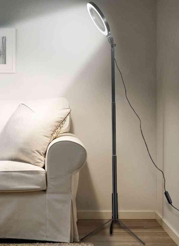Led Usb Ring, Floor Light Tripod, Annular 80leds Standing Lamp