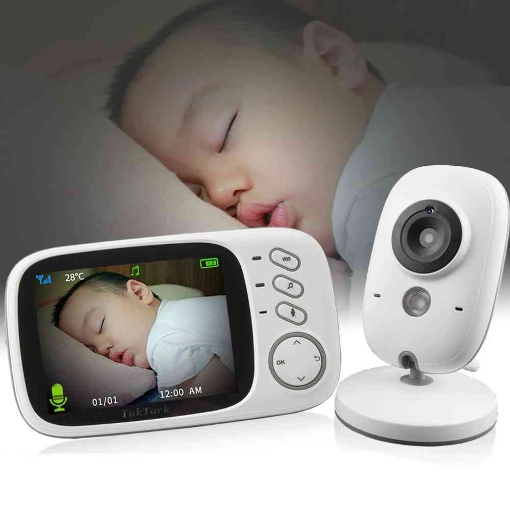 Wireless Video-color Monitor For Baby Security Camera, Night-vision Temperature Monitoring