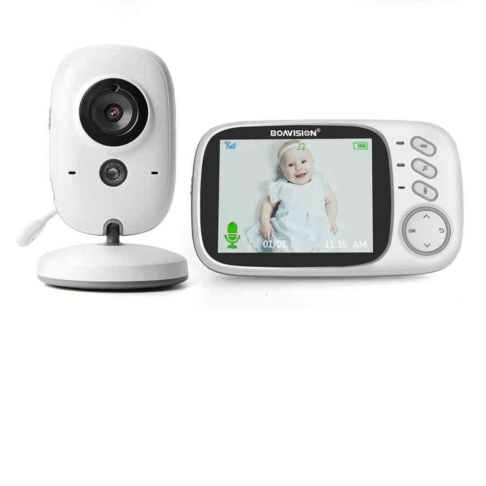 Wireless Video Baby Monitor With Lcd 2-way Audio Talk