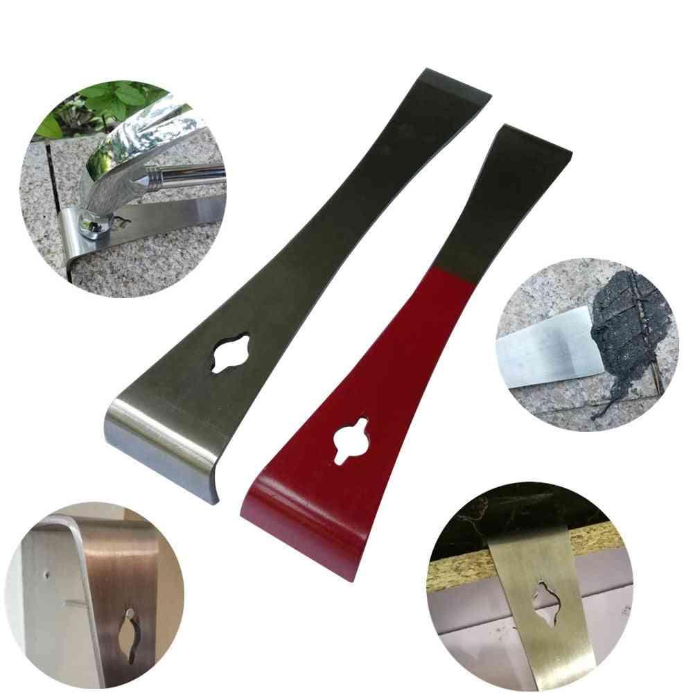 Mutifunction Stainless Steel Prybar And Scraper-razor Sharp Scraper Edges