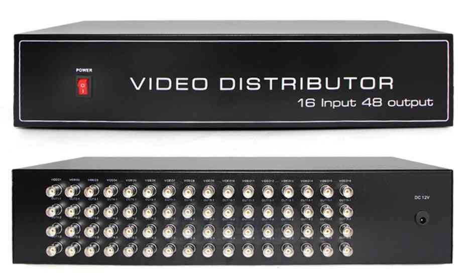 16 To 48ch Video Splitter / Hd Distributor Bnc