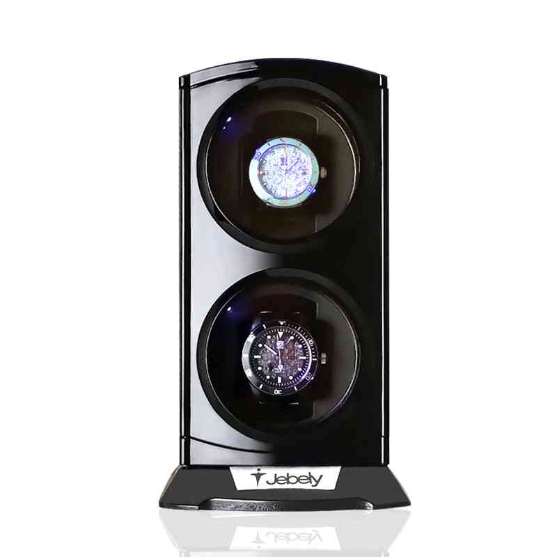 Double Watch Winder For Automatic Watches, Box With Led