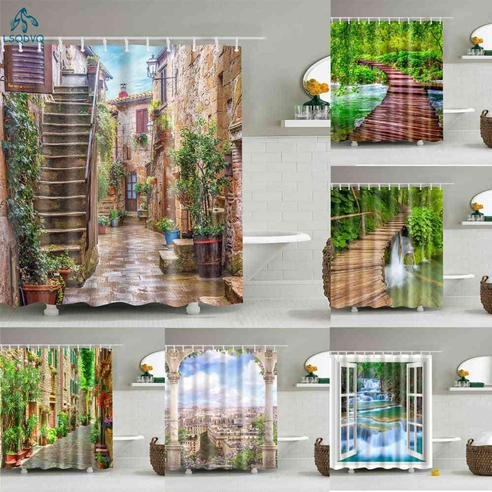 Garden Flower Plant Curtains