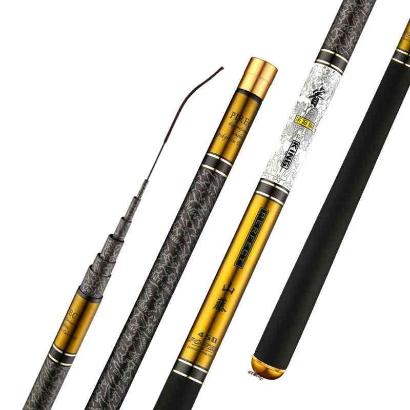 Carbon Fiber Ultra Light Hard Travel Carp Telescopic Fishing Rod