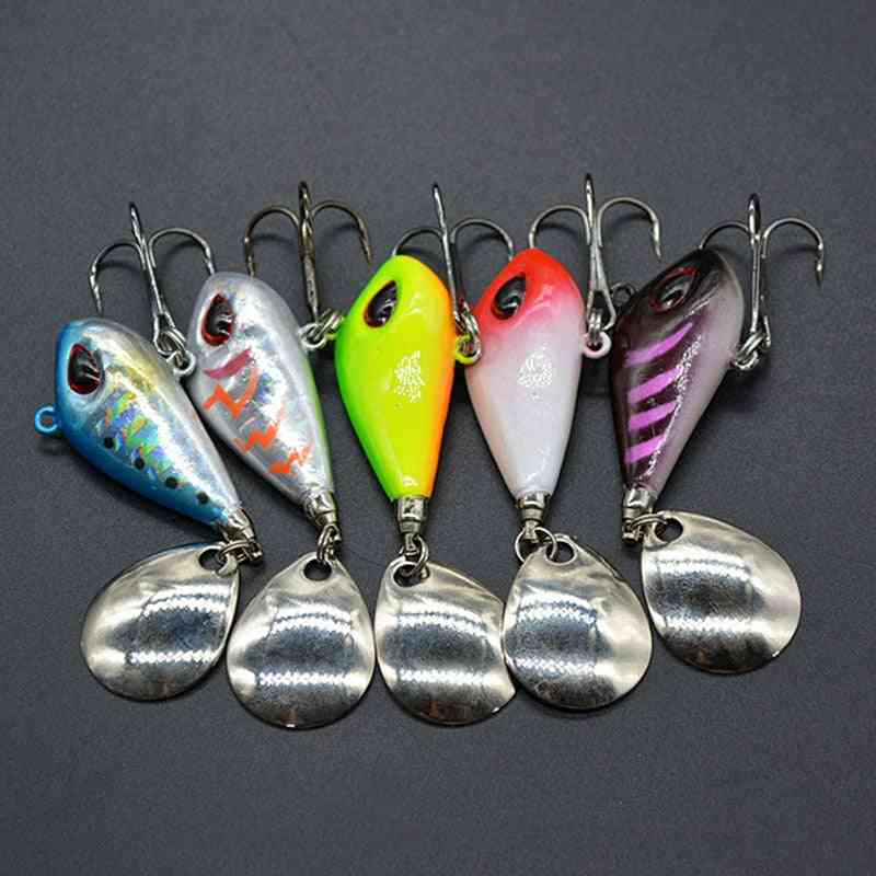 Metal Mini Vib With Spoon Fishing Lure, Tackle Pin, Sinking Bait