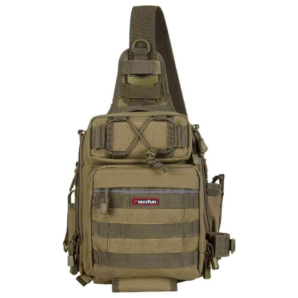 Waterproof- Nylon Single Shoulder, Backpack & Hand Chest, Fishing Tackle Bag