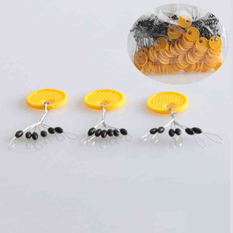 6-in-1 Rubber Oval Stopper, Bobber Float Connector, Fishing Tackle Accessories