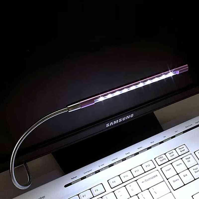 Usb Led Computer Light, Mini Metal Flexible Table Lamps
