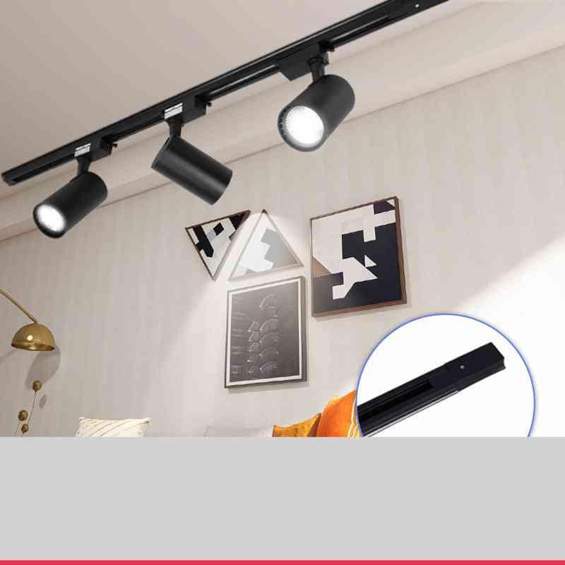 220v Led Track Light Aluminum Rail Cob 12w 20w 30w 40w & Track Lamp Spotlight