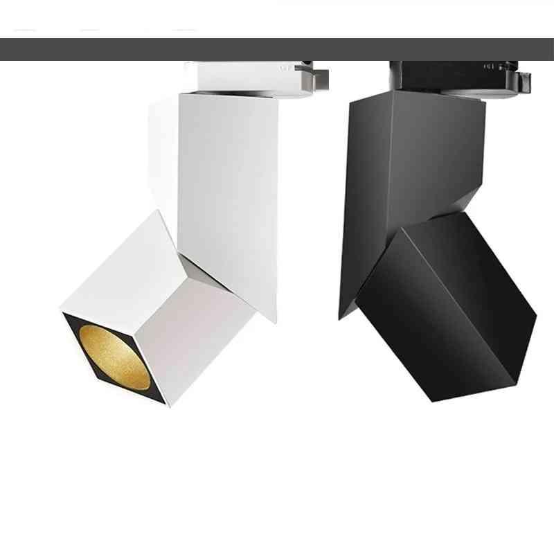 Art Cube Led Track Light, Adjustable Angle Rail Lamp Ceiling System For Indoor Track Lighting