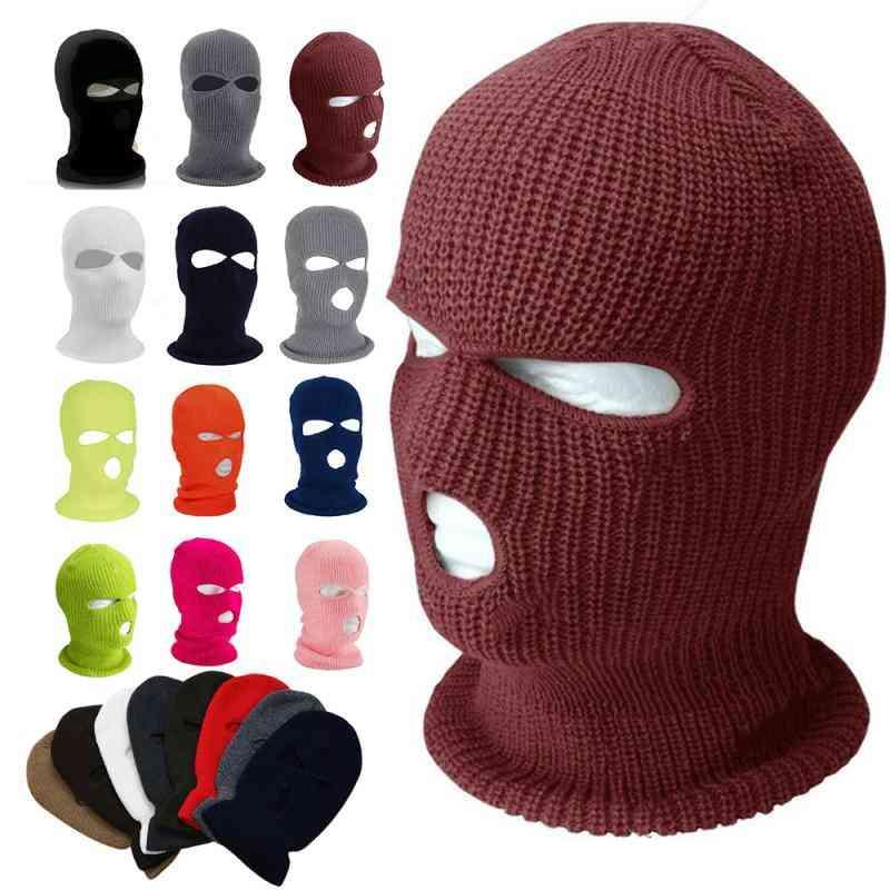 Full Face Mask Ski Winter Cap Balaclava Hood Army Tactical Wear Hiking Scarves Camping Tools