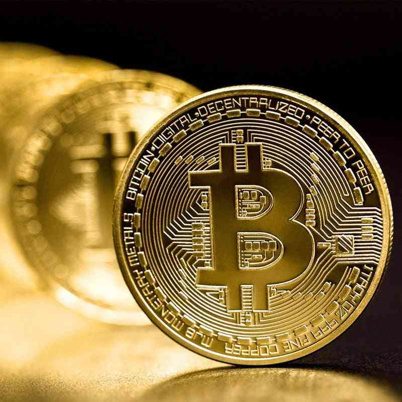 Creative Gold Plated Bitcoin Coin - Collectible Great Art