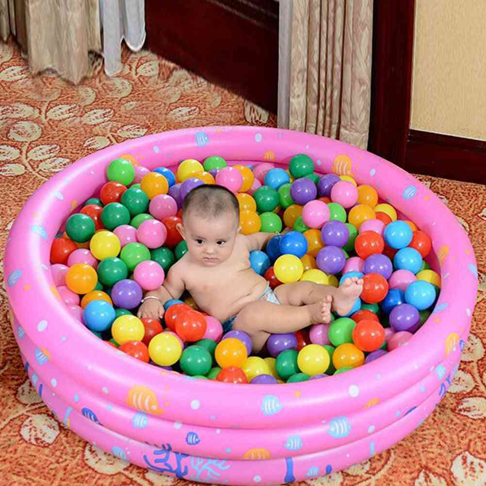 Portable Indoor Outdoor Baby Swimming Pool Inflatable Basin Bathtub Ocean Ball For
