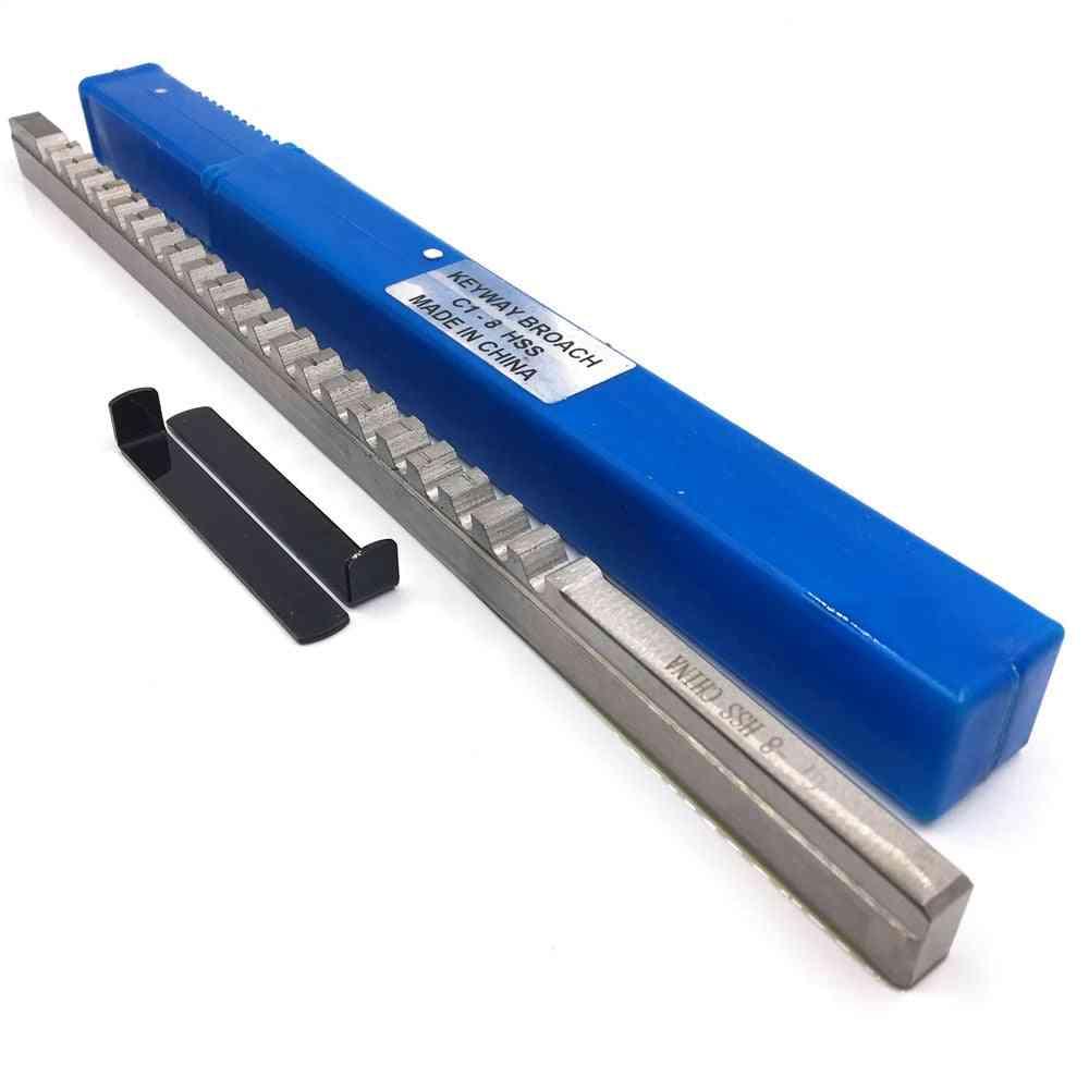 Metric Size Broaches High Speed Steel Keyway Cutting Broaching Tool