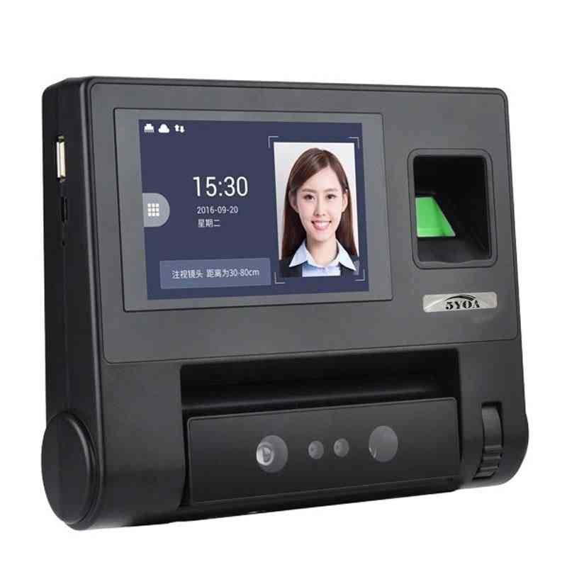 Biometric, Face & Fingerprint, Recognition Time Attendance System Machine