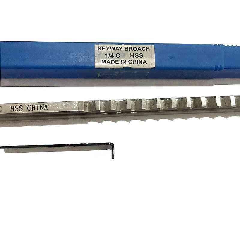 Broach Inch Size Hss Broach Cutting Cutter Cnc Machine Tool