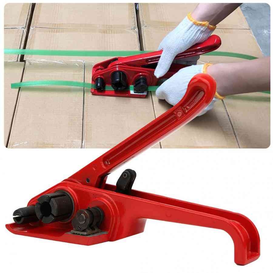 Manual Tape Strapping Tensioner Red Sealless Combination Tool