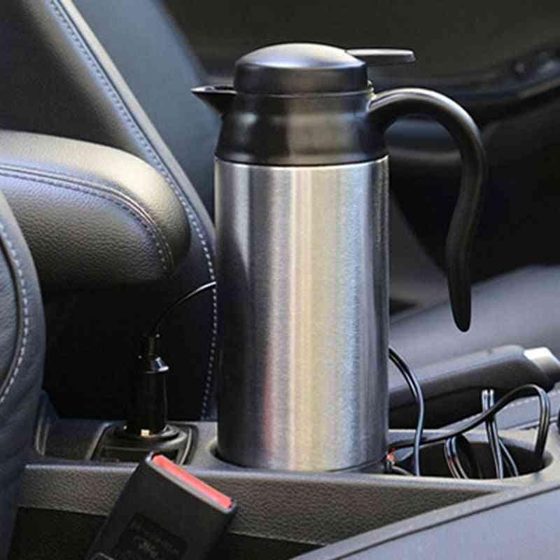 Stainless Steel- Electric Kettle, In-car Travel, Coffee, Tea Heated Mug, Motor Hot Water