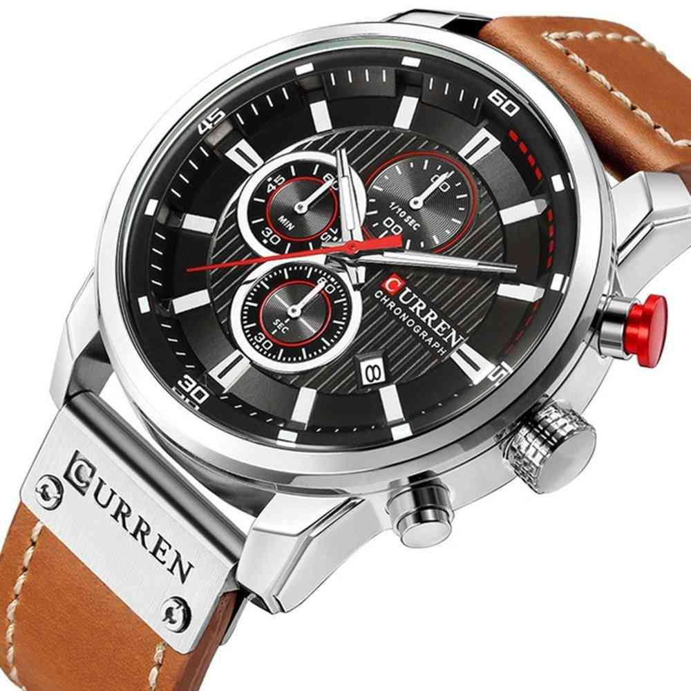 Man Watches With Chronograph, Sport Waterproof Clock, Watches Military, Men's Analog Quartz