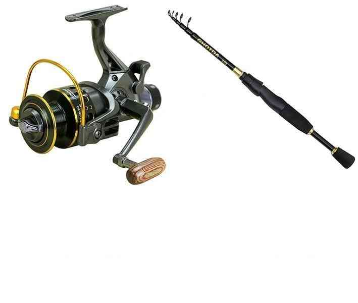 Fishing Reel Double Brake Front And Rear Drag Carp