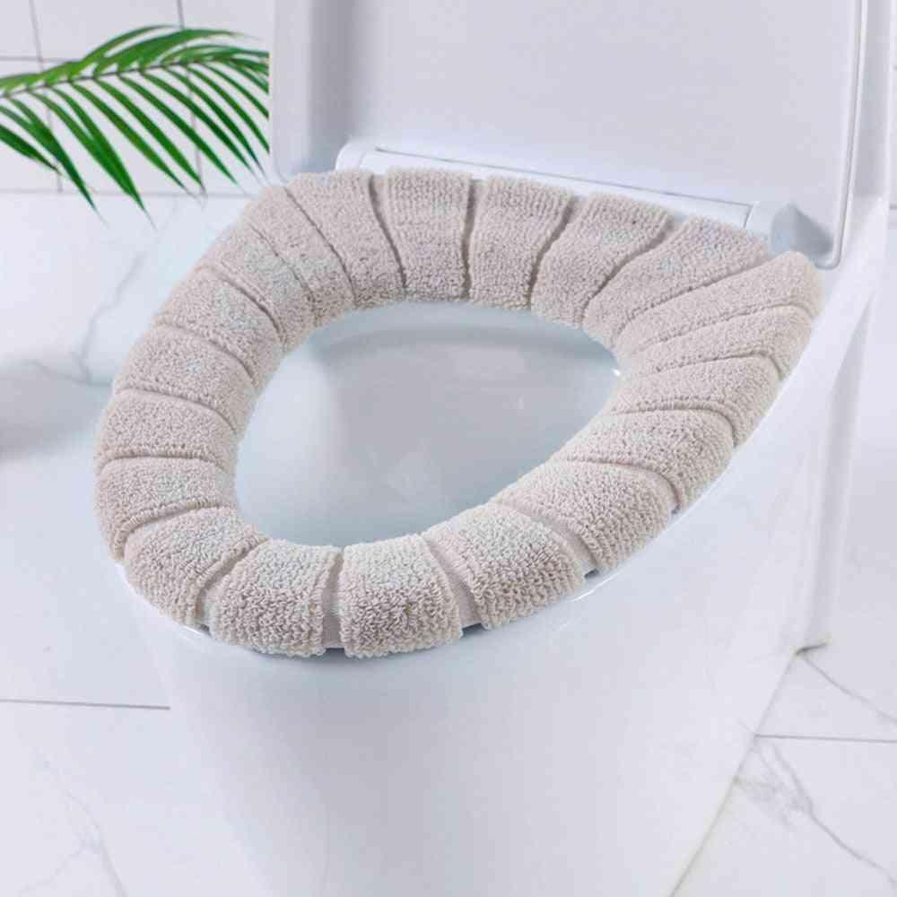 Nordic Style O-knit Cotton Thread Super Soft Toilet Seat Cushion