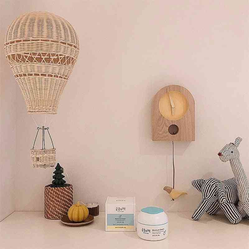 Nordic Hand-woven Rattan Balloon Kids Room Wall Decorations  Bohemia Nursery Photo Props Christmas Ornament (as Pictures)