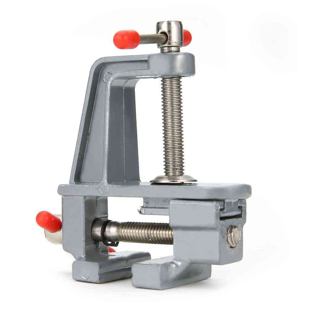 Mini Aluminum Bench Vise Woodworking Table Clamp