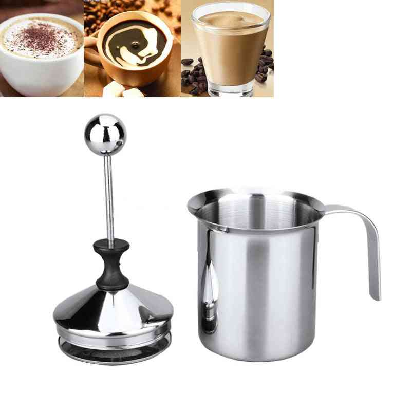 Double Mesh Milk Creamer Stainless Steel Milk Frother For Cappuccino