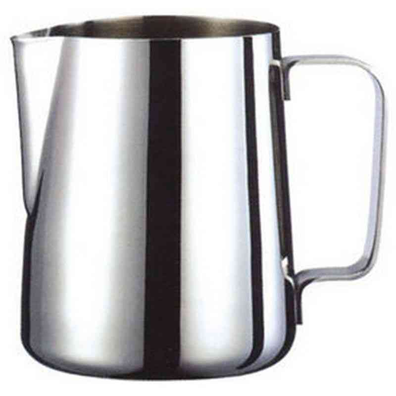 Jug Milk Pitcher Stainless Steel Milk Bowls For Frother Craft  (silver 200ml)