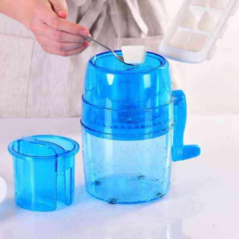 Portable Hand Crank Manual Ice Crusher (blue)
