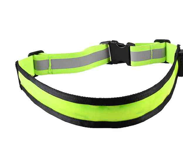 Night Running Waterproof Warning Light Rechargeable Led Reflective Belt