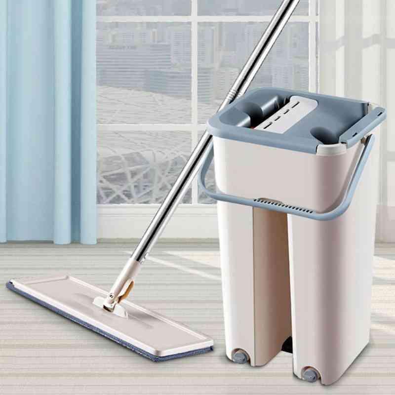 Automatic Mop And Bucket Microfiber Wooden Floor