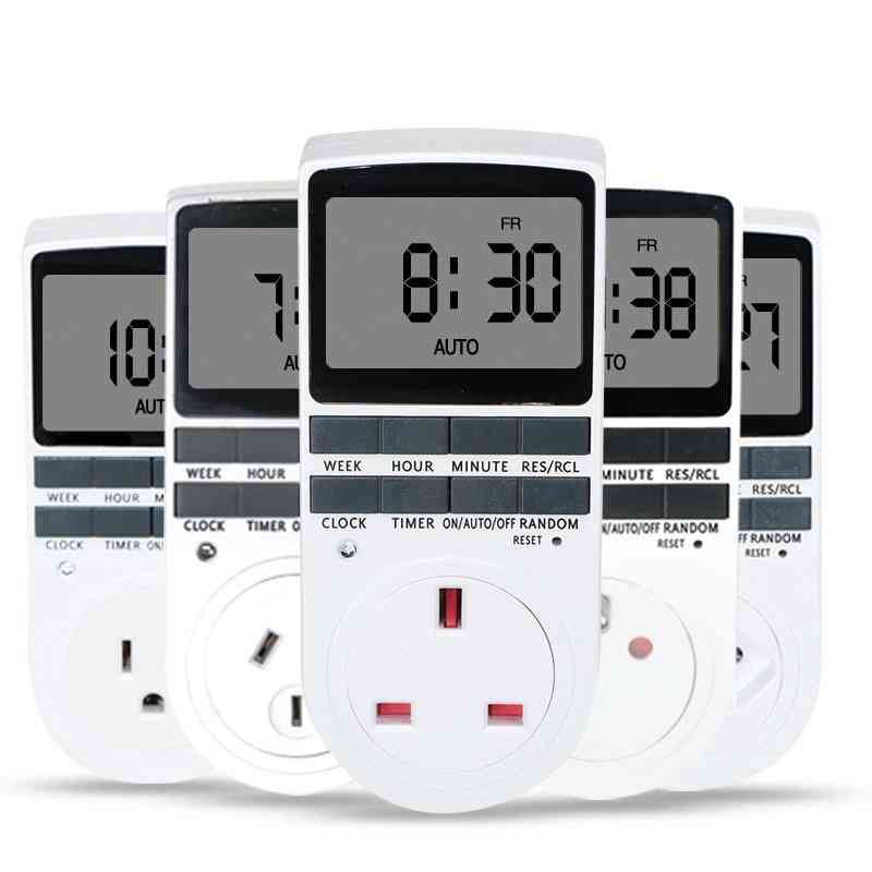 24 Hour Cyclic Electronic Digital Switch Kitchen Timing Socket