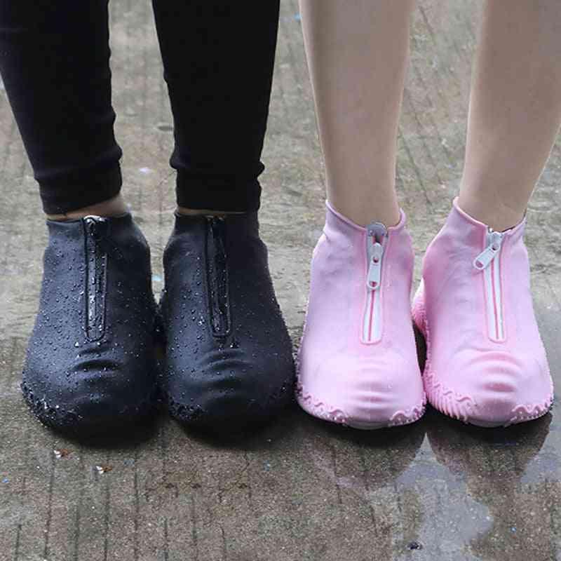 Spring Fashion Reusable Waterproof Zipper Rain Shoes Cover
