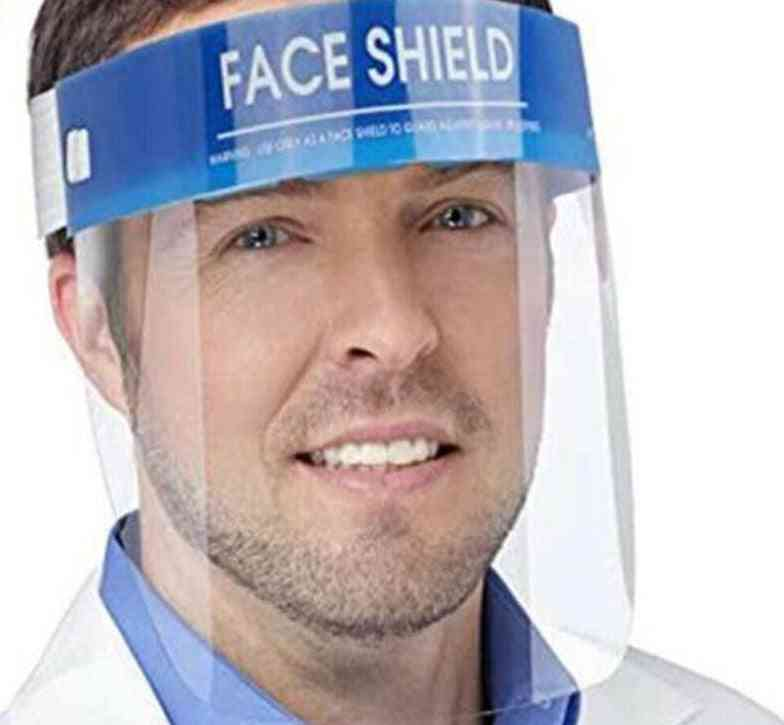 1pc Professional Clear Full-face Shield Protection Transparent Protective Safety